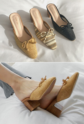 """紫藤高光泽鞋骡子鞋<br> <font color=""""#ed1558""""><b>[身高:6cm]</b> <br></font>"""