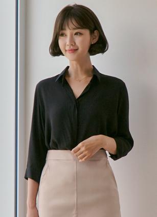 Cosmo基本的薄纱衬衫<br>