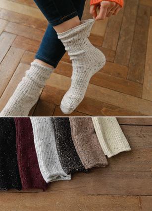 Bokashi针织袜子<br>