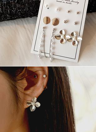 (6个套)花集耳环<br>