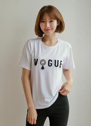 Vogt流苏短袖T恤衫