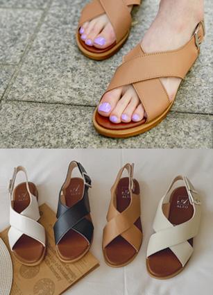 """Finder交叉容易凉鞋<font color=""""#ed1558""""><b>[跟:1.5cm]</b> <br></font>"""