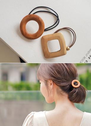 圆形和圆形木头带