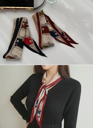 菱形图案围巾
