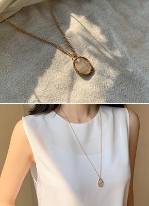大理石宝石项链<br>