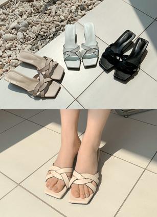 """纠结Mule凉鞋<font color=""""#ed1558""""><b>[跟:4cm]</b> <br></font>"""