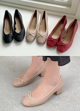 """色带点中腿鞋<font color=""""#ed1558""""><b>[跟:4cm]</b> <br></font>"""